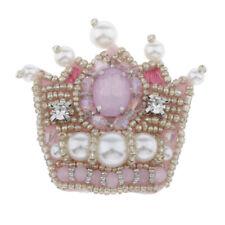 Krone Aufnäher Applikation Patches Aufnäherbilder Strass Perlen zum aufnähen