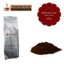 Caffè Arabica macinato fresco per moka Kenya AA TOP 250 gr