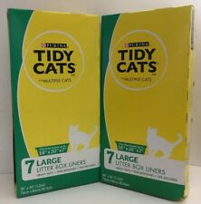 "2 Boxes Tidy Cats Large Litter Box Liners 7 Liners Fits 18"" x 20"" x 7"" Box"