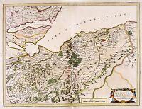MAP ANTIQUE BLAEU SCOTLAND 1654 NAIRN MORAY LARGE REPLICA POSTER PRINT PAM0616