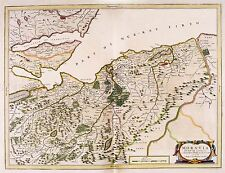 MAP ANTIQUE BLAEU SCOTLAND 1654 NAIRN MORAY LARGE REPLICA POSTER PRINT PAM0616