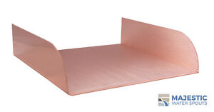 """LOMBARDI 12"""" SPA-TO-POOL & FOUNTAIN SPILLWAY - COPPER"""