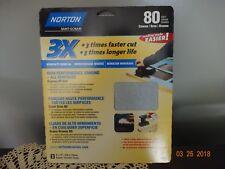 Norton 02621 3X Handy Aluminum-Oxide Sandpaper 80 Grit, 9-Inch x 11-Inch, 3-Pac