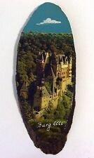 Burg Elze Souvenir Wall Plaque - Painting on a log Section