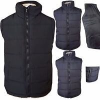 Mens Quilted Padded Lined Gilet Gillet Bodywarmer Sleeveless Coat Jacket M - 3XL