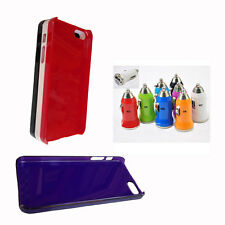 ONE Thin & Slim iPhone5S Solid/Clear Colored Case + ONE Turbo USB Car Charger