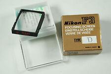 Nikon Focusing Screen Type D Einstellscheibe Mattscheibe für Nikon F 3