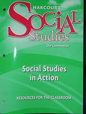 Harcourt Social Studies in Action 3rd Grade Level 3 Our Communities Workbook