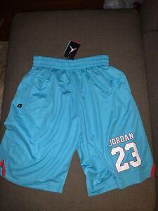 NWT 658654-429 Men's Nike Air Jordan 23 Shorts Teal Red  L