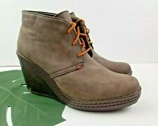 Dr. Scholls Womens Brown Bethany Wedge Booties Size 8.5