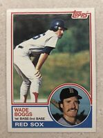 1983 Topps #498 Wade Boggs Rookie Card RC Boston Red Sox HOF