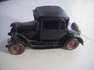 ARCADE FREEPORT ILL. Antique CHEVY COUPE   8 1/4 inch Cast Iron TOY CAR
