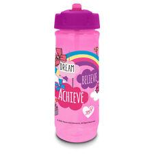 Jojo Siwa Bow Pink Rainbow Cascade Flip Top Water Drinks Bottle