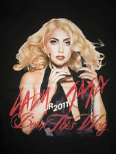 "2011 LADY GAGA ""BORN THIS WAY"" Concert Tour (XL) T-Shirt"