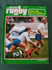 """Lot de 8 """"Revue officielle de la fédération française de Rugby"""" 1980"""