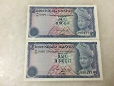(JC) 2 pcs RM1 3rd Series Signed ISMA F/80 - 990138 - 139 running - AUNC