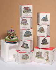 """All 9 LIBERTY FALLS 1997 """"Americana Collection"""" Houses, PLUS Carousel & More"""