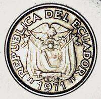 MONEDAS DEL MUNDO Ecuador 1971 20 Centavos