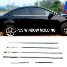 6PCS FOR HOLDEN CRUZE 4DR CHROME S.STEEL WINDOW SILL TRIM SURROUND COVER GARNISH
