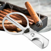 Smooth Stainless Steel Hand Grip Cigar Cutter Knife Scissors Cigars Accessories