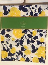 "Kate Spade New York, ""Garden Rose"", Floral table runner, 72"", 100% cotton, navy"