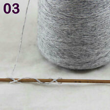 Sale NEW Luxurious100g Mongolian Pure Cashmere Hand Knitting Cone Yarn 03 Silver
