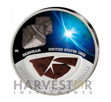 2012 BRENHAM METEORITE COSIMIC FIREBALL COIN SERIES SILVER PROOF COIN FIJI