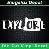 Vinyl Decal .. OREGON State * EXPLORE * .. OR Outline Car SUV Laptop Sticker