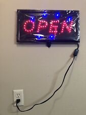 Open Sign Led Light Neon Restaurant Business Bar Bright Glass Display