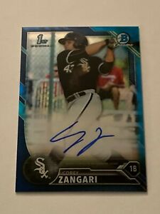 Corey Zangari 2016 Bowman Chrome Prospects Blue Refractor Autograph /150