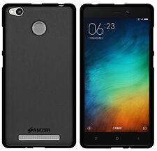 AMZER Pudding Matte TPU Skin Case Protective For Xiaomi Redmi 3 3S Prime - Black