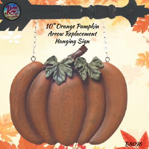 Primitive Hanging Resin Orange Pumpkin Arrow Replacement Sign Plaque Fall Hallo
