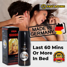 NEW SUPER VIGA 50000 GERMAN NATURAL PREMATURE EJACULATION SEX DELAY SPRAY LONG