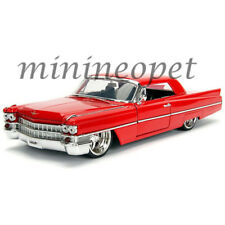 JADA 99551 BIGTIME KUSTOMS 1963 CADILLAC 1/24 DIECAST RED with SILVER WHEELS