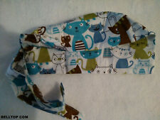 SCRUB CAP KITTENS 100% COTTON NURSES DOCTORS HAT NEW NLAA HINN BELLTOPcom