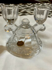 Candle Holder Vintage Hand Made Crystal Double Candle Holder By Crocheted Co.