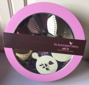 Hummingbird Bakery Cake Tin Cup Cake Stand Cases & Stencils Set Baking Bake NEW