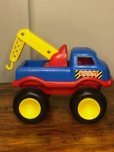 Vintage Plastic Tonka 1999 Hasbro Toddler Preschool Tow Truck Vehicle Rare HTF