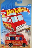 2019 Hot Wheels #189 Hw Metro 1/10 QUICK BITE Red w/Black St8 Spoke White Rims