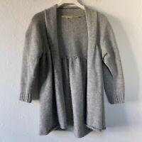 Vince Women's Gray Cashmere Open Front Sweater Cardigan Medium