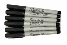 Sharpie Ultra Fine Point Permanent Markers Black 6 Count Precision Writing