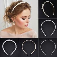 Elegant Big Pearl Headband Cat Ear Hairband Hoops Women Girls Hair Accessories