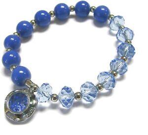 December Birthstone Bracelet Birthday Zircon Blue Beaded Bracelet Woman