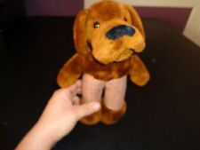 VINTAGE 1981 R. DAKIN BITE OUT OF CRIME FIGHTING MCGRUFF DOG PLUSH DOLL FIGURE