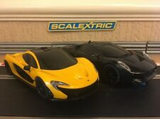 Scalextric McLaren P1 & Jaguar C-X75 Fully Serviced With New Braids