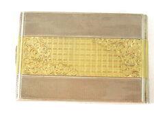 Zigarettenetui antik Silber 900 teilvergoldet 2 weitere Punzen Sammler 11 x 7 cm
