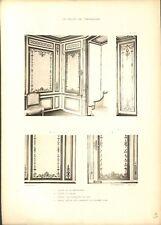 Salon de la Méridienne Volet Panneaux Bronze Château de Versailles GRAVURE 1899