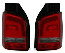RÜCKLEUCHTEN SET für VW T5 Facelift in ROT SMOKE RÜCKLICHT GP HECKLEUCHTEN