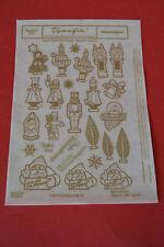 2 x DDR typofix Folie Weihnachtsfiguren  Rubbelbilder goldfarben
