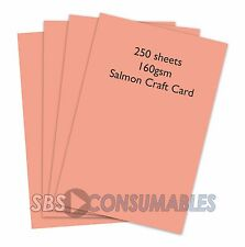 250 SHEETS A4 160gsm CLAIREFONTAINE COLOURED CRAFT CARD - SALMON PINK - 1104
